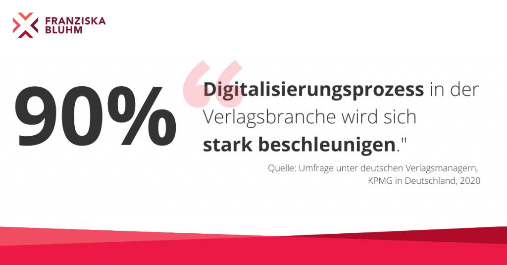 90 Prozent der Verlagsmanager sagen, dass sich die Digitalisierung beschleunigen wird